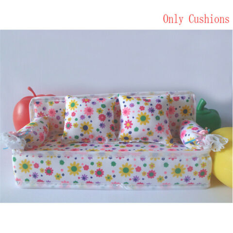 BABY TOY PLUSH STUFFED FURNITURE 3X CUSHIONS FOR DOLL COUCH H2