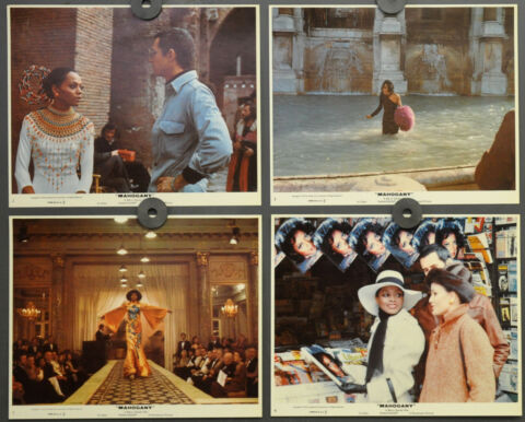 MAHAGONI 1975 ORIGINAL 8X10 LOBBY KARTE SET DIANA ROSS BILLY DEE WILLIAMS