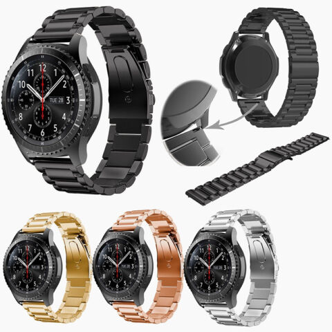 SOLIDE ARMBAND UHRENARMBAND STRAP F R SAMSUNG GALAXY GEAR S3 CLASSIC FRONTIER BE