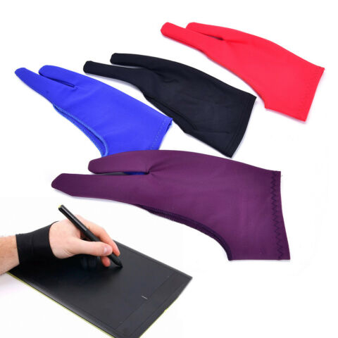 TWO FINGER ANTI FOULING GLOVE FOR ARTIST DRAWING PEN GRAPHIC TABLET PAD VE