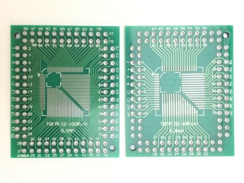 BREAKOUT BOARD F R QFP 32 100 0 5MM UND QFP 32 64 0 8MM SMD ADAPTER PLATINE