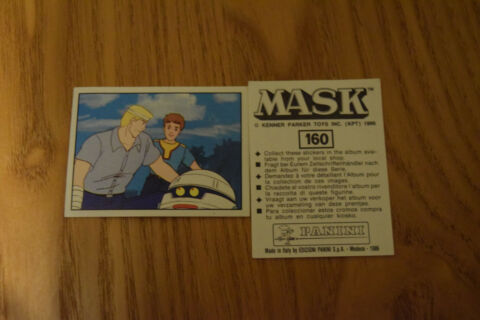 MASK PANINI STICKER 1986 M A S K KENNER PARKER TOYS NUMBER 160