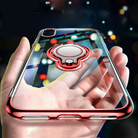 HANDY H LLE F R APPLE IPHONE X XR XS MAX PANZERFOLIE COVER CASE RING TASCHE