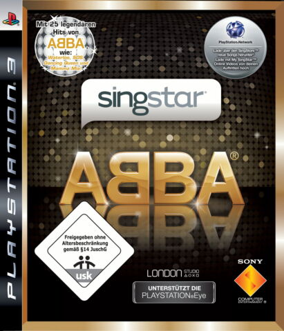 SINGSTAR ABBA SONY PLAYSTATION 3 2008 MAMA MIA PARTY ZU OSTERN GENIAL