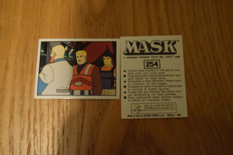 MASK PANINI STICKER 1986 M A S K KENNER PARKER TOYS NUMBER 254