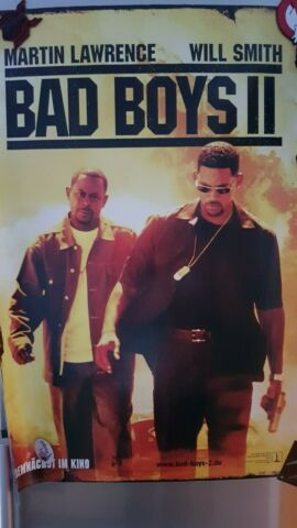 TOP ORIGINAL KINO VORPLAKAT BAD BOYS II AUS DEUTSCHER ERSTAUFF HRUNG 2003