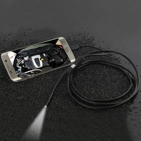 7MM LENS WATERPROOF 6 LED 720P INSPECTION BORESCOPE CAMERA ANDROID ENDOSCOPE S3