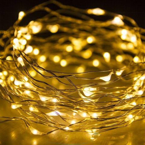 2 10 M BATTERY POWERED COPPER WIRE STRING FAIRY XMAS PARTY LIGHTS WARM WHICK