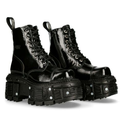 NEW ROCK SCHUHE SHOES BOOTS STIEFEL M TANKMILI083 GOTHIC TANK COLLECTION LACK