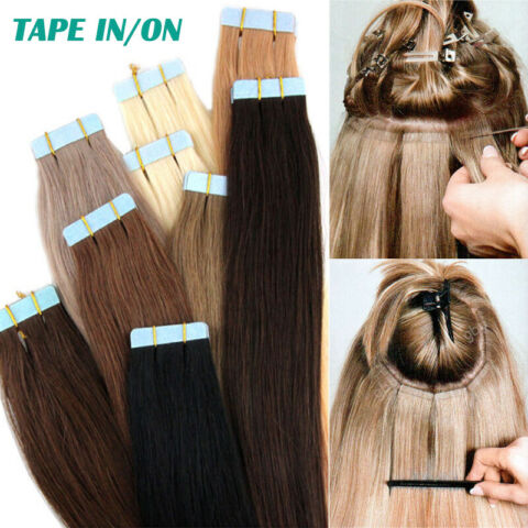 100G TAPE IN ON REMY ECHTHAAR EXTENSION INDISCHES HAARVERL NGERUNG TRESSEN GLATT