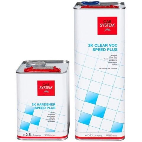 CARSYSTEM SPEED PLUS KLARLACK 2K VOC A B KOMP 7 5 LITER SPOT SMART REPAIR