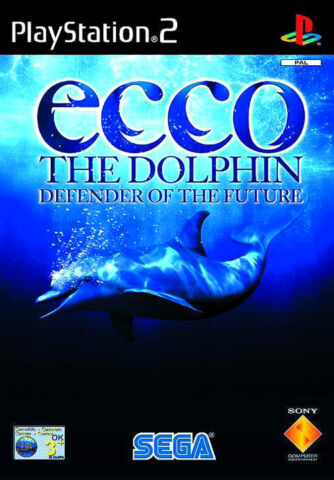 ECCO THE DOLPHIN DEFENDER OF THE FUTURE SONY PLAYSTATION 2 2002 DVD BOX