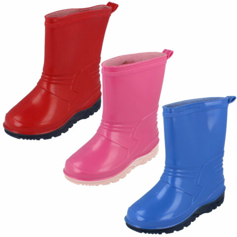 GIRLS AND BOYS WELLINGTONS WELLIES X1058 PINK BLUE RED BARGIAN