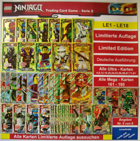 LEGO NINJAGO TRADING CARDS LIMITIERTE AUFLAGE LE1 LE18 GOLD SERIE 2 AUSWAHL