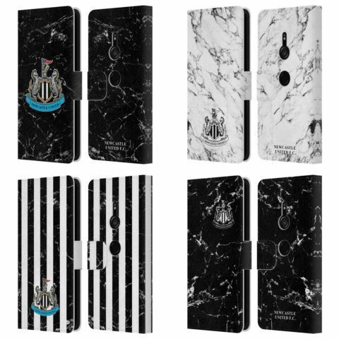 NEWCASTLE UNITED FC NUFC 2017 18 MARBLE LEATHER BOOK CASE FOR SONY PHONES 1
