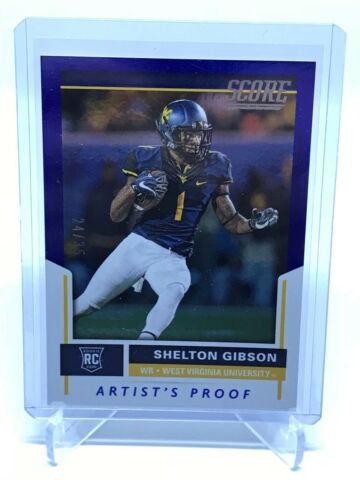 2017 PANINI SCORE SHELTON GIBSON RC ARTISTS PROOF 24 35 EAGLES 342 SUPER BOWL