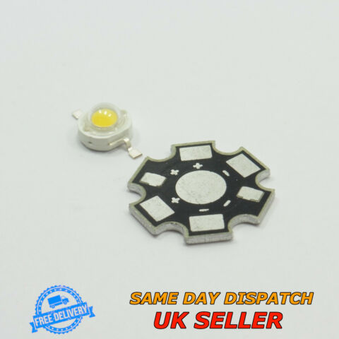 HIGH POWER LED SMD CHIP AND ALUMINIUM PCB STAR BASES BOARD BEAD LAMP PLATE BULB