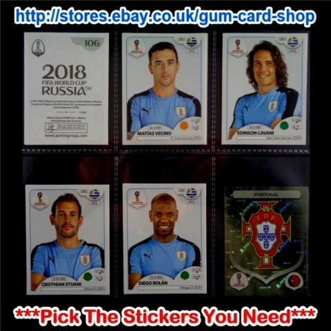 PANINI WM 2018 RUSSLAND 100 BIS 199 SELECT THE AUFKLEBER YOU NEED