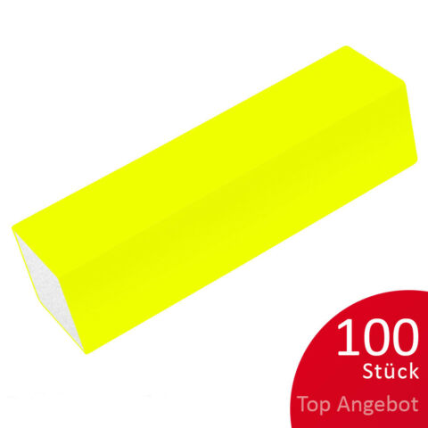 100 PROFI BUFFER SCHLEIFBL CKE NEON GELB 180 180 FEILBLOCK NAILS TOP ANGEBOT