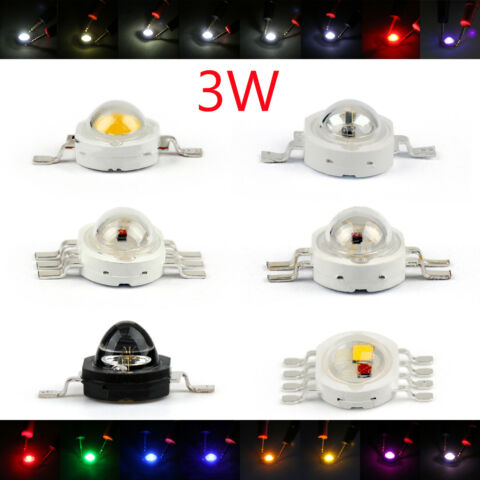 3W LED LEUCHTDIODEN BEADS DIODES RGB INFRA HOHE POWER CHIP LICHT AT