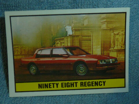 SAMMELSTICKER NR 160 BILD STICKER AUTO 2000 NINETY EIGHT REGENCY PANINI 1985