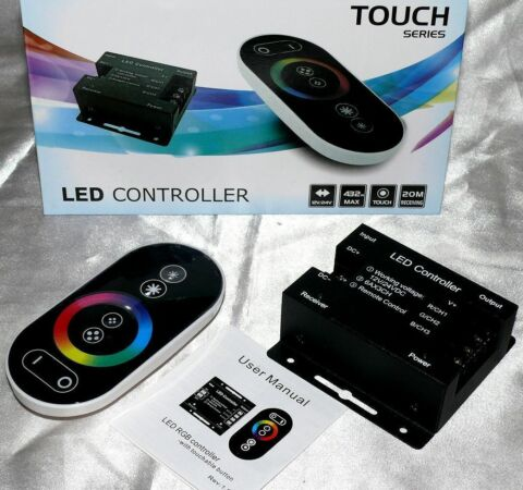 TOUCH RF RGB LED CONTROLLER 3KANAL 12 24V 18A FUNK FB STEUERGER T 432W STRIPS