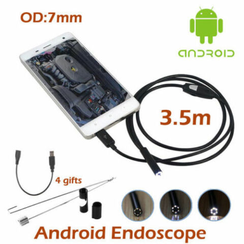 WATERPROOF 7MM 6LED ANDROID ENDOSCOPE BORESCOPE SNAKE INSPECTION CAMERA SCOP KH