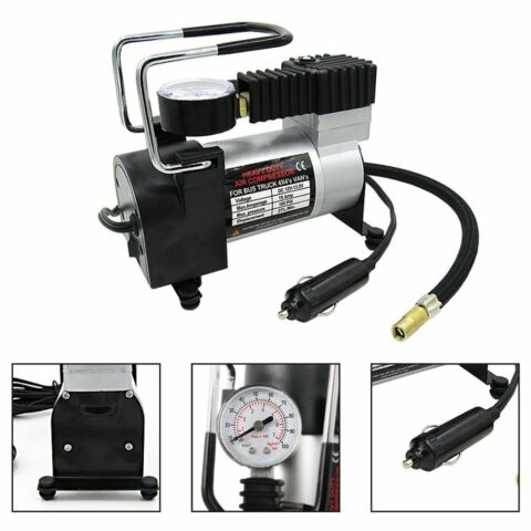 12V150PSI HEAVY DUTY DELUXE PORTABLE METAL AIR COMPRESSOR CAR TYREDS