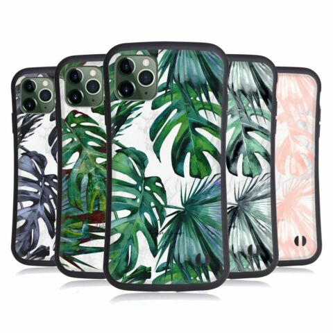 NATURE MAGICK TROPICAL PALM LEAVES ON MARBLE HYBRID CASE FOR APPLE IPHONES PHONE