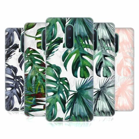 NATURE MAGICK TROPICAL PALM LEAVES ON MARBLE GEL CASE FOR AMAZON ASUS ONEPLUS