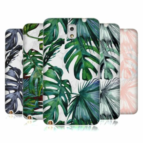 NATURE MAGICK TROPICAL PALM LEAVES ON MARBLE SOFT GEL CASE FOR SAMSUNG PHONES 2