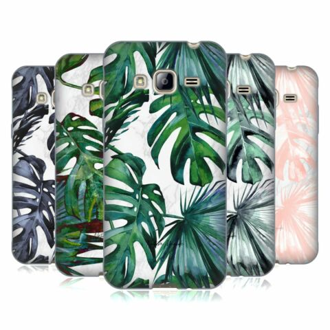 NATURE MAGICK TROPICAL PALM LEAVES ON MARBLE SOFT GEL CASE FOR SAMSUNG PHONES 3