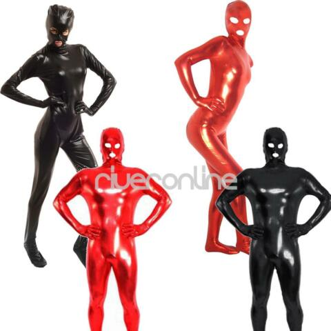 FRAUEN M NNER LATEX RUBBER BODYSUIT CATSUIT GANZANZUG JUMPSUIT FULL BODY KOST M