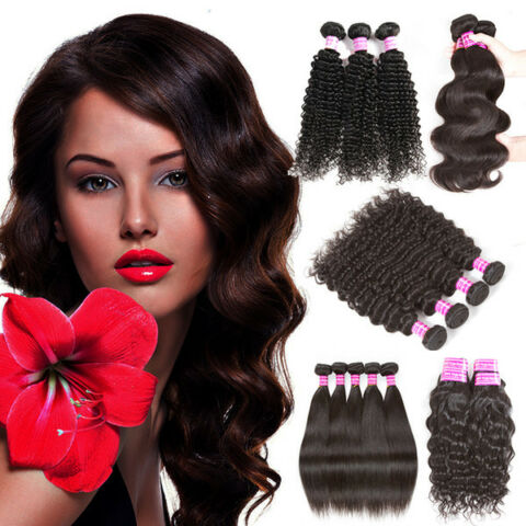 100 CAMBODIA VIRGIN HUMAN HAIR WEFT 9A UNPROCESSED 100G 8 TO 34INCH SAMEDAY SHIP