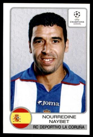 PANINI CHAMPIONS LEAGUE 2001 2002 NOURREDINE NAYBET DEPORTIVO NR 194
