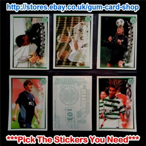 PANINI HERE COME THE BHOYS CELTIC 2000 01 100 177 SELECT AUFKLEBER
