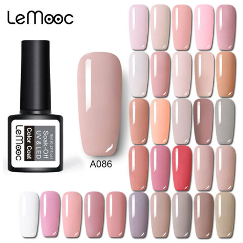 186 CLASSIC UV GELLACK NAGELLACK SOAK OFF UV GEL POLISH MANIK RE SALON NUDE PINK