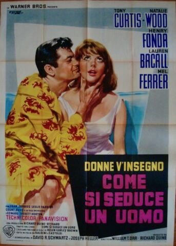 SEX AND THE SINGLE GIRL ITALIENISCH 2F FILMPOSTER 39X55 TONY CURTIS NATALIE WOOD