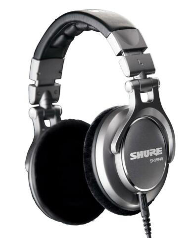 B WARE SHURE SRH 940 DJ PA KOPFH RER MUSIC STUDIO OVER HEAD B GEL HEADSET CASE