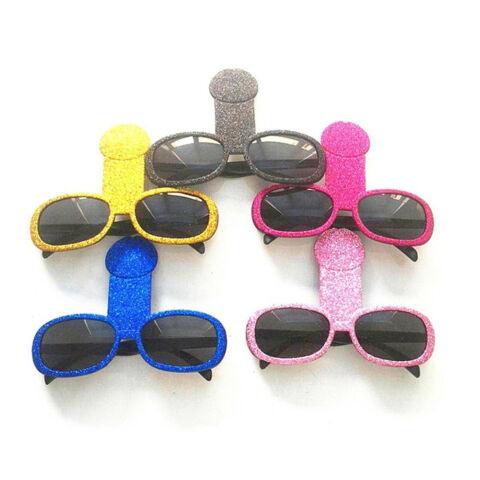 FUNNY PENIS WILLY SHAPED GLASSES FANCY ACCESSORIES FOR BACHELORETTE GIRLS OUT CN