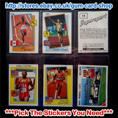 PANINI SUPERSPORT 1988 AUFKLEBER PICK THE AUFKLEBER YOU NEED