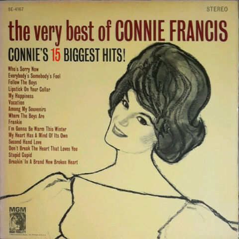 CONNIE FRANCIS THE VERY BEST OF CONNIE FRANCIS