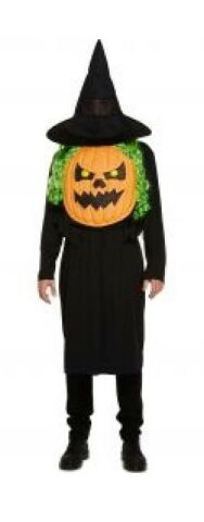 MENS HALLOWEEN COSTUME JUMBO PUMPKIN FACE SKELETON HORROR OUTFIT ONE SIZE