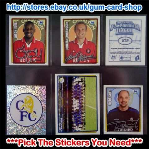 MERLIN PREMIER LEAGUE 2001 2002 100 TO 199 SELECT THE AUFKLEBER YOU NEED