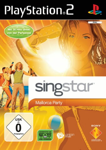 SINGSTAR MALLORCA PARTY SONY PLAYSTATION 2 2009 DVD BOX