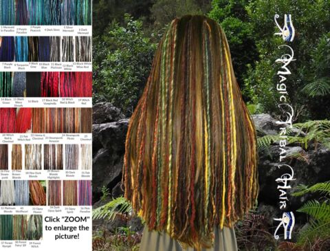 CLIP IN DREADS EXTENSIONS VIELE FARBEN 120 144 DREADLOCKS TRIBAL FUSION HAARTEIL