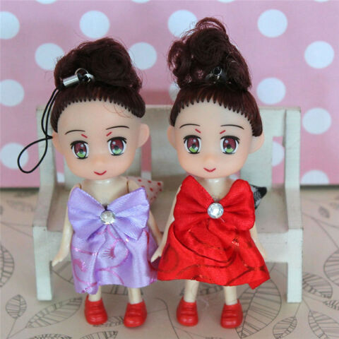 MINI DOLL KEY CHAIN KIDS PLUSH BABY DOLLS KEYCHAIN SOFT TOYS KEYRING DECOR CN