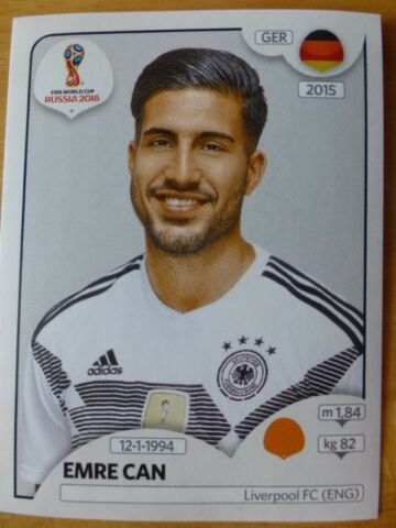 PANINI FIFA WM 2018 STICKER NR 442 EMRE CAN NEU