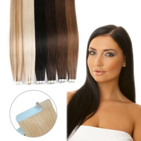 TAPE IN ON ECHTHAAR EXTENSIONS HAARVERL NGERUNG 2 5G TRESSE 100 REMY HAIR