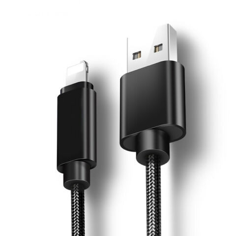 BRAIDED USB LIGHTNING FAST CHARGING DATA CHARGER CABLE LEAD FOR APPLE IPHONE
